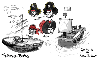 RErrede - A study of pirate hats and ships.