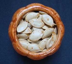 findvegan:  roasted pumpkin seeds