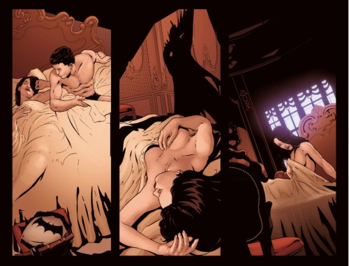 I forgot one of the pics of Talia and Bruce in bed together. Oops. Here you go.