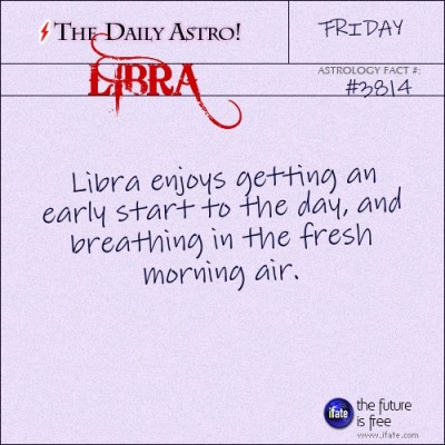 Libra 3814: Check out The Daily Astro for facts about Libra.and get a free astrology birth chart.