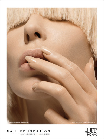 "Award winning HIPPxRGB Nude Nail Color System launches their advertising campaign for Nail Foundation ""F1"" worn by Miley Cyrus, Scarlett Johansson, and Drew Barrymore. Very special 30% discount this weekend only with CODE:NUDE to introduce you to the first ever, all nude nail color collection designed specifically for you.  What's your nude?"