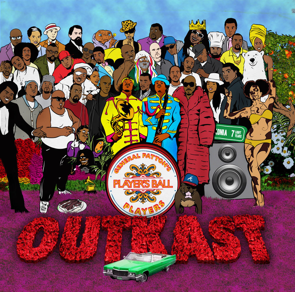 "Parallels Vol. 1: The Beatles // Outkast ""The Beatles and Outkast are the pre-eminent groups of this caliber from their respective genres. When music is measured on a broad critical scale, it's typically across three categories: sales and plays, critical reception and influence over time (the importance of each gets debated by music critics and consumers ad nauseam). By these standards, each group achieved what is the most remarkable balance of all three for any outfit of their respective genres. But there is a fourth, less-tangible element that etches mere mortals into music's history. A closer examination of the Fab Four and 'Kast suggests that there is a shared method to their myth."" [READ MORE] Words @JHagen34 // Artwork @KennyKeil"