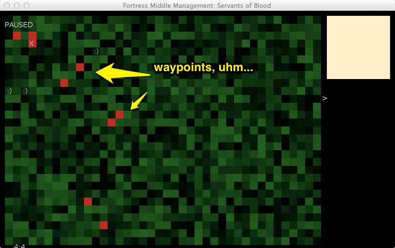 Playing waypoints, the yellow thing in the top right will become the compass.