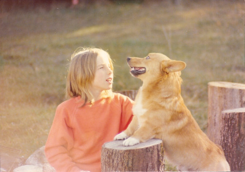 jvnk:  Summer of '76: Mom and her Corgi  Vintage corg