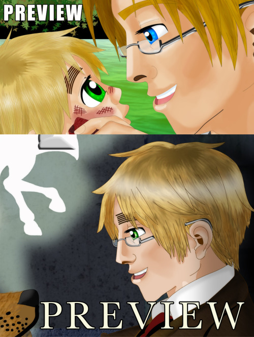 I made these two images for a fan-made Anthology at the USUK Livejournal community.  I can't show the full pictures until the Anthology is out, but I can show previews! Now I'm off to recover from being sat in front of a computer for 11 hours straight…