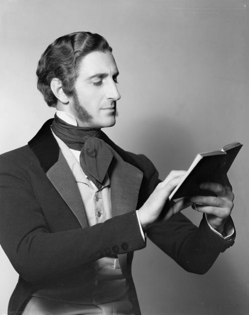 lostsplendor:  Dapper Gentlemen Reading: Basil Rathbone, 1931 via The New York Public Library