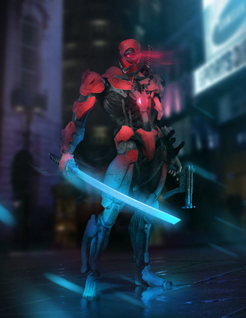 "otlgaming:  DEADPOOL/METAL GEAR RISING MASHUP This badass mashup between Marvel's Merc with a Mouth and Metal Gear Rising's Raiden (titled ""Deadpool Rising for Fun) comes courtesy of the talented BossLogic.  He created both versions with a combination of action figures and Photoshop. (via Obvious Winner)"