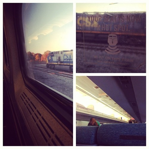I feel like I'm always traveling , on a #train #amtrack