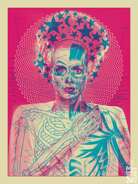 weirdlines:  bride.artprint.bubblegum by brianewingdotcom on Flickr.