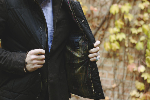 haberdashmen:  Barbour waxed down vest.
