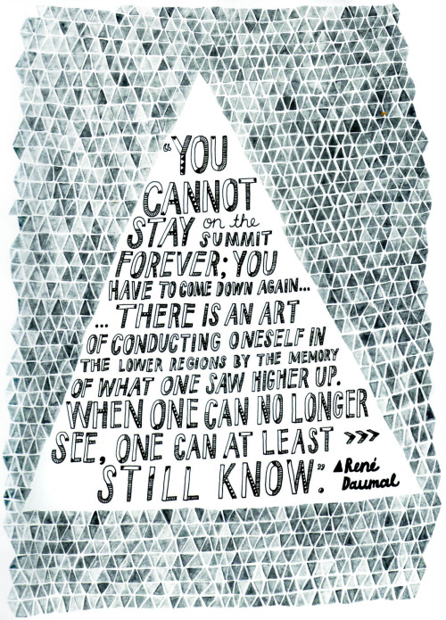 Hand Drawn Type Poster - a favourite Rene Daumal quote of mine