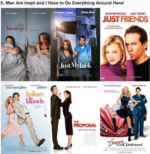 The 5 Types of Romantic Comedy Movie Posters [Click to view all] Boys will be boys.