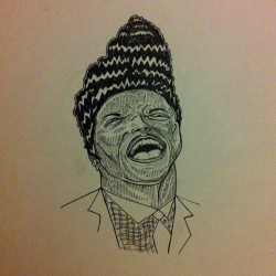 Another Little Richard sketch #sketch