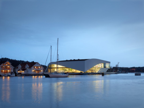 "The Cultural Centre ""Buen"" (The Arch) in the Southern Norwegian village of Mandal. Architects: 3XN. #allgoodthings #danish #architecture"