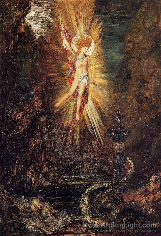 Gustave Moreau, Apollo Vanquishing the Serpent Python, 1885