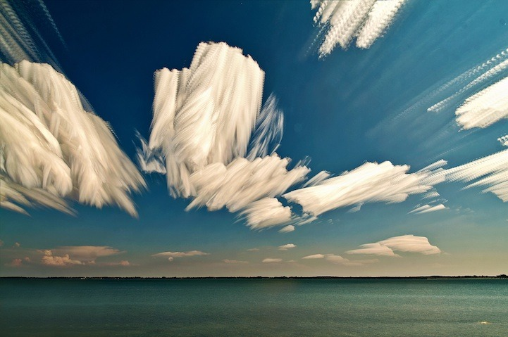 "Ontario, Canada-based photographer Matt Molloy recently created a gorgeous series of sky images by stacking multiple photos onto one. The individual photos are most often taken from the timelapses he shoots. The final photo has a stunning painterly effect, almost as if someone had taken a paintbrush to the sky and smeared its beautiful colors. When asked at 500px how many photos it took to create the one seen above, he replied, ""I'm not exactly sure, but I used hundreds of photos to create this one image."" (Via)."
