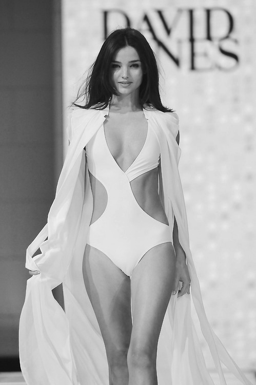 black-white-and-bold:  Miranda Kerr