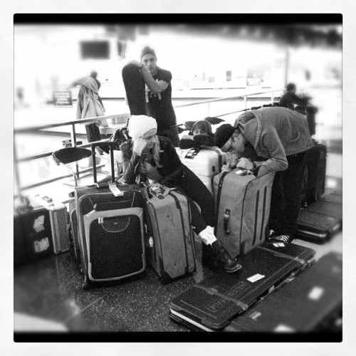 officialr5:  Hellooooo Chicago! You think we have enough bags?