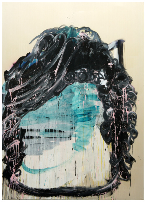 Curating Contemporary  Sabine Tress Black Moon, 2012 acrylic on canvas 78 x 55 in.