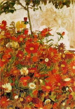 Field of Flowers (1910). Egon Schiele.