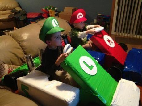 Parenting done right: Now that's how you play Mario Kart!