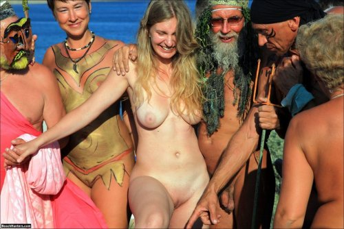 Naked, pained, hippie, witch, all included