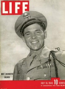 Have you heard of this famous Irish-American?  Audie Murphy was the most decorated soldier of WWII with 28 citations for bravery, including the Medal of Honor.  Murphy also became a celebrated Hollywood actor after the war for over two decades, appearing in 44 films, mostly westerns. He also had some success as a country music composer.