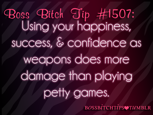 bossbitchtips:  Killin' em without even trying!