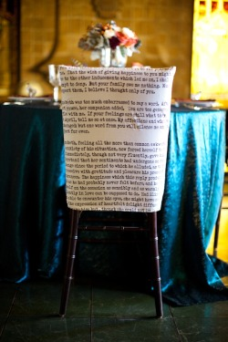 Literary Chair Cover