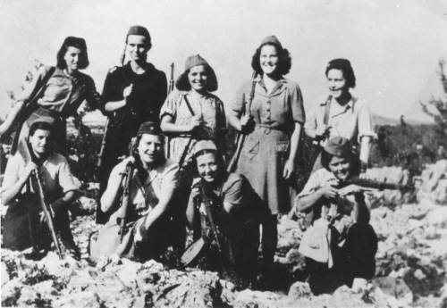 Partisan fighters with Antifašistički front žena (Anti-Fascist Women's Front) in Slovenia, July 1943. (via)