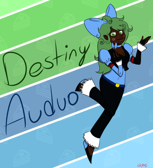 archaicmodernist:  Ok, I had to re-make Destiny's concept art for her VCV bank. Old one was just ugh. Just a few changes here and there. I made her colors more analogous and match better.