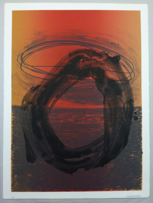 "Emily Diehl  Untitled Collaborating Printer: Damla Erten Lithograph, 22 x 30"" Albuquerque, 2012"