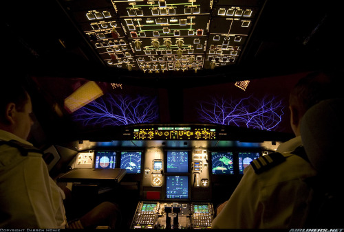 Lightning storm in the path of an Airbus A320 By: Darren Howie [x]