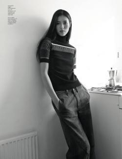 suicideblonde:  Liu Wen photographed by Benjamin Alexander Huseby for Dazed & Confused, December 2012