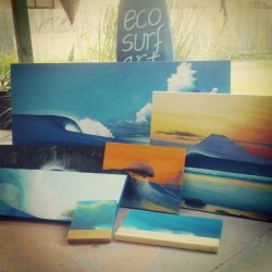 All set for #SurfriderFoundation's Eco Challenge tomorrow at Coolum. Drop in and say G'day, I'll be painting onsite.