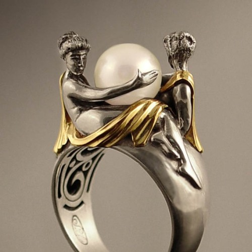 By WingedLion  This ring is like a piece of Baroque art! Super awesome!