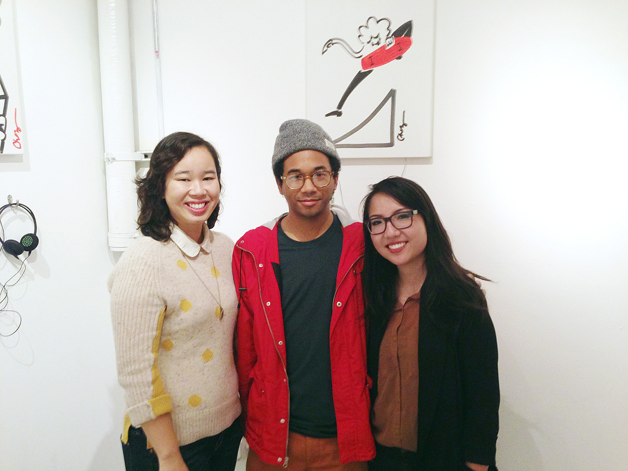 *V*I*P*s hangin' out with Toro y Moi at his Anything In Return art exhibit.