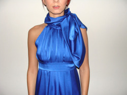 the blue choker dress