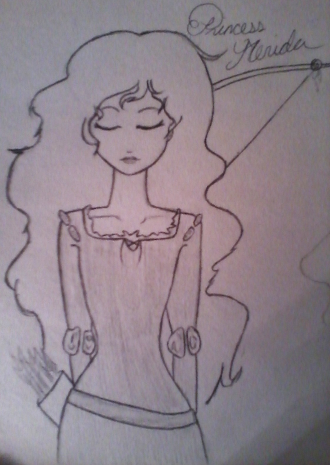 I just watched Brave so i thought id give a go at drawing Princess Merida.:s