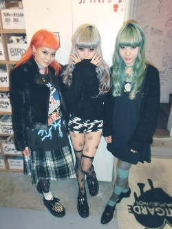 avantgardejapan:  Today's AVANTGALDS♡ Momo,Juria,Sammy