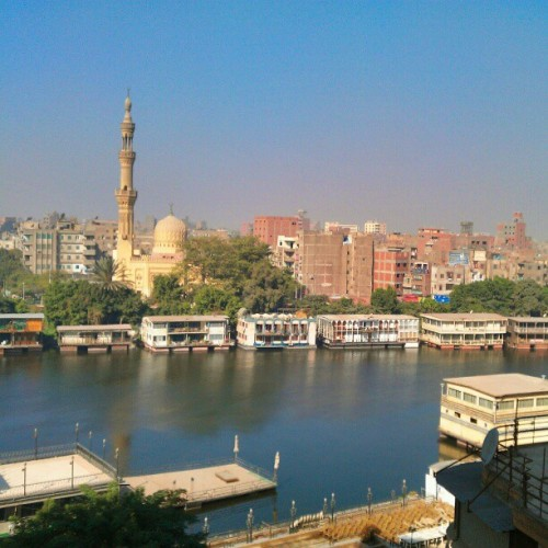 Settled in back in Cairo, this time with a view of the Nile.