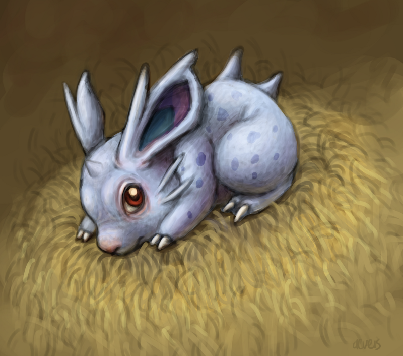 pkmnathon:  Nidoran wants to be left alone.  another late night paint