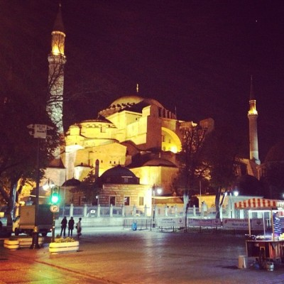 Hagia Sophia at night (at Ayasofya (Hagia Sophia))