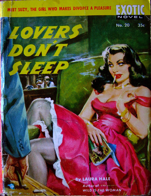cryptofwrestling:  Lovers Don't Sleep by Laura Hale (1951)