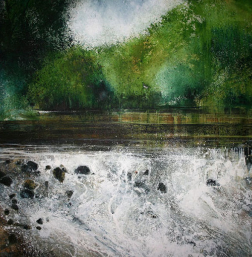 iamjapanese:  Stewart Edmondson(British) River Water in my Eyes   2009 Acrylic on Paper