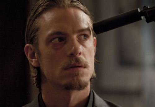 "Joel Kinnaman as Frank Wagner in ""National Target"""