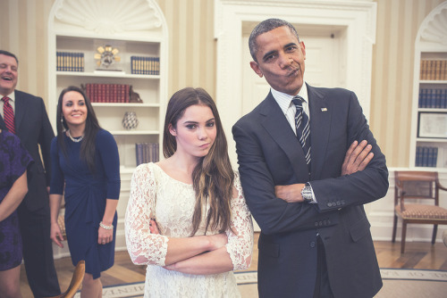 mckayla and obama are not impressed[OMGASOIDASOPJUCXPIDAS]