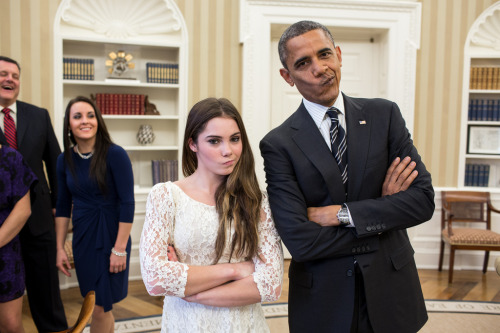 apsies:  The President and McKayla Maroney are not impressed. (by The White House)
