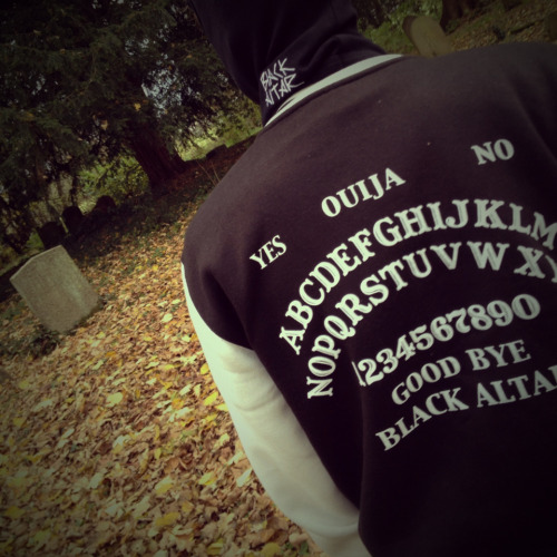 Black Altar Apparel: Final Two!We only have TWO ouija board jackets left, this is the sixth and last time we have reprinted these since Spring!  Black & Camouflage balaclavas are also still available so grab one while you still can!B.A.Ahttp://www.blackaltarapparel.com/