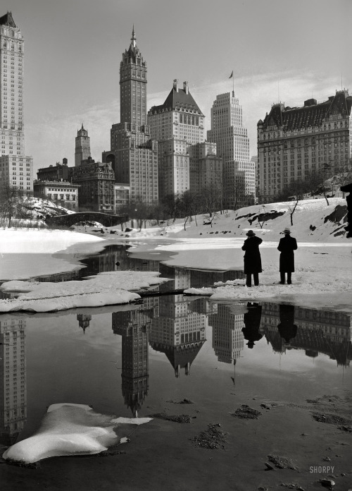 ferdinand-von-portus:  From Central Park: New York City, February 1933